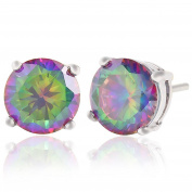 Celebrity Jewellery 925 Sterling Silver Elements Sparkling Diamond Stud Earrings for Women
