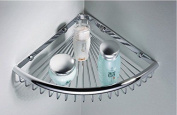 Beelee Rustproof Corner Triangular Bath Shelf Shower Caddy, Wall Mounted