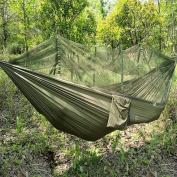 Jungle Hammock With Mosquito Net, Portable Lanyard Outdoor Mosquito Bar Sleeping