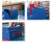 Arregui Mail C-9700 Money Box – Mail 93 X 83 X 152 Mm Painted Steel Blue