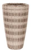 Ivyline Rp3870nt Rattan Vase - Beige