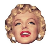 Marilyn Monroe Single 2d Card Face Mask - Great For Hollywood Themed Parties