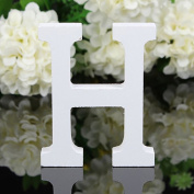 Bodhi2000 White Wooden Letters Alphabet for Wedding Birthday Home Decorations