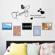 Yunhigh Quotes Wall Stickers Decals Removable Waterproof Memories Photo Frame Wall Stickers for Kids Girls Boys Living Room Bedrooms Baby Room Home Decoration