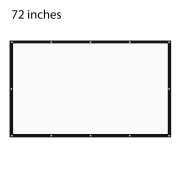 180cm 16:9/4:3 HD Portable Tabletop Projector Screen Projection Screen 63'' x 35'' Viewing Screen Easy Installation for Home Cinema Business Meeting