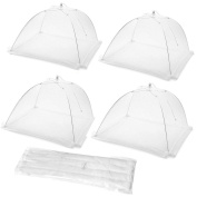 Cymax 4 Pack Large and Strong Pop Up Mesh Screen Food Cover Tent,43cm Reusable and Collapsible Outdoor Food Cover,Food Protector Tent Keep Out Flies, Bugs, Mosquitoes