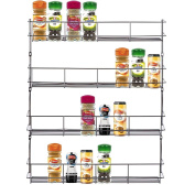 Home Treats Four Tier Door/Wall Mounted Spice, Jar Rack For Kitchen Perfect Cooking Storage Organiser
