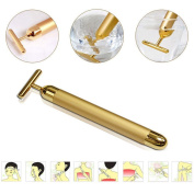 PEPECARE 24k Gold Beauty Bar Facial Roller Vibration Skincare Massager Derma Anti-ageing