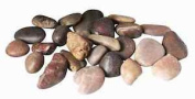 Outdoor & Indoor Smooth Polished Brown Pebbles Home Garden Decoration 2kg