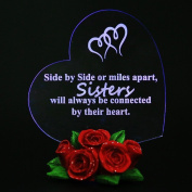 Giftgarden LED Gift Light up Hearts Mirror for Sisters Birthday Wedding Gifts