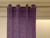 Chesnut Plum Devoré Eyelet Net Curtain 140x250 Cm