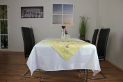 "Fresh Original ""spring On The Farm"" Tablecloth In Yellow With A Magical Easter X"
