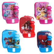 Character Insulated Vertical Lunch Bag Set With Snack Box Bottle - Princess