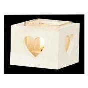 White Wooden Tea Light Holder Xmas Decoration Christmas