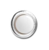 Greenbrook Push A Lite Doorbell - Small Round Silver Push Button