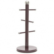 Aubergine Heavy Base Mug Tree - With Swing Ticket Kitchenware Accessories Gifts