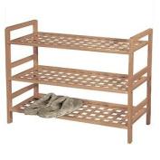 New 3tier Wooden Shoe Rack Organiser Stand Storage Unit Shelf Tidy Home Porch