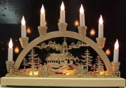 The Benross Christmas Workshop 10 Led Battery Operated Wooden Candle Bridge