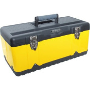 Yamoto 582x298x255mm Yellow Metal Toolbox + Tote Tray
