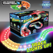 Mindscope LED Laser Twister Tracks 3.7m of Light Up Flexible Track + 1 Light Up Race Car Each Individual Track Piece Contains Lights