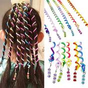 Sasairy 12 Pieces Ladies Girls Spiral Spin Hair Tool Women Hair Clip Twist Barrette Spiral Curls Accessories