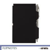 [flip notebook] note taker solid black (/ ball-point pen / pen / cover / plain fabric with the memo notebook / memo pad / memo paper / memo notebook / external memory / note taker / block memo / memo / notebook / pen with the memo / pen with the memo pad