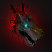 3d Deco Led Battery Powered Wall Light - Grimlock
