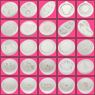 *offer* Katy Sue Craft + Cupcake Icing Silicone Moulds - Toppers - Range 1!