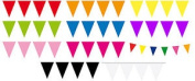 Bright Coloured Flag Party Bunting Choice Of Many Colours 15 Flags 10m Party Dec