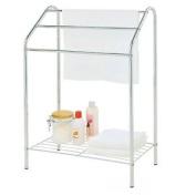 Free Standing 3 Bar Chrome Towel Rail Stand Bathroom Storage Rack Holder Shelf