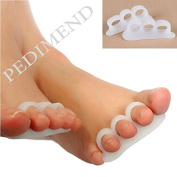 Pedimend Soft Silicone Gel Toe Separators / Straightener - Bunion Protector - Thumb Valgus Protector - Bunion Adjuster - Toe Finger Separator / Improves Balance & Foot Strength / Avoid Toe Squeezing – Foot Care