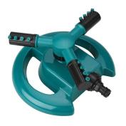 Soledi Auto Spinning Rotating Sprinkler Circular Sprayer Durable Rotary 3 Arm