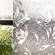 Privacy Frosted Window Film Self Adhesive No Glue Static Decorative 3d Eco #63a