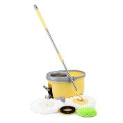 Ikayaa 360°rotating Spin Mop Bucket Set With Foot Pedal Self-wring Floor Mop #ph