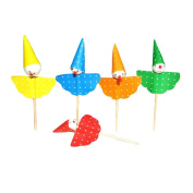 50 Pcs Disposable Cocktail Picks Lovely Cupcake Stick Decorative Party Supply