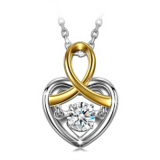 Dancing Heart Magic of Love 925 Sterling Silver Necklace for Women