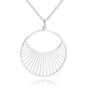 Pernille Corydon Women's Necklace Daylight Round Pendant Long Necklace 80 cm silver – N571S