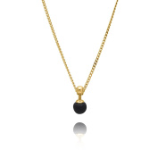 Louise kragh Women's Necklace Sphere Mini Pearls Matt 925 Sterling Silver Gold-Plated – N SPH0102SG Black