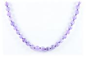 AqBeadsUk Classic Semi-Precious Gemstone Amethyst Beads 48cm - 50cm Luxury Handmade/Hand-Knotted Women's Necklace