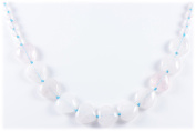 AqBeadsUk Classic Semi-Precious Gemstone 16mm heart shape/ 6mm Round Beads 19.8 inch Luxury Hand-Knotted Women's Necklace
