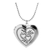 Heart Locket Necklace That Hold Pictures Vintage Charm Antique Pendant Flower Engraved Women Men