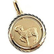 Helios Jewellery Coin Horoscope Zodiac Aries Pendant – Gold Plated – New
