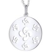Talisman Jewellery-Pendant-Medallion-Basque Cross-Woman-Silver-Chain included