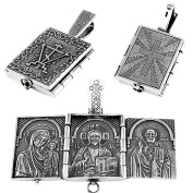 Nklaus 925 Sterling Silver Pendant Icons Triptych P16 Christening