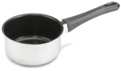 Karl Kruger Non-Stick Coating Saucepan and Milk Pot with Spout, Silver, 0.60 Litre