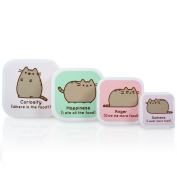 New Pusheen The Cat Pastel Colour Stacking Snack Boxes