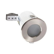 Robus Fixed Round Low Volt Fire Rated Downlight Brushed Chrome 12v X 2 Lights