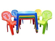 Kids / Childrens Premium Table And Duck Chair Set - Chairs With Duck On Choose 1
