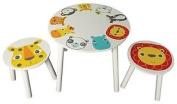 Kidsaw Safari Table And 2 Stools, 50 X 50 X 45 Cm, Multi-colour