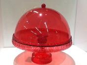 Baci Bm 675777 Cake Stand With Dome, Clear Acrylic, Purple, 27.5 X 27.5 X 27 Cm